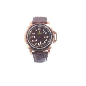 Helfer Lady's Secret Stainless Steel Diamond Bezel Watch W/Sapphire Crystal LS001S
