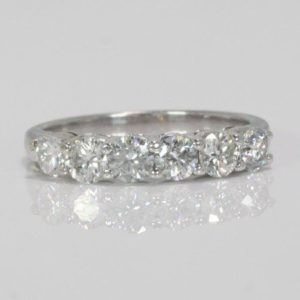 1.21 CARAT ROUND BRILLIANT CUT DIAMOND PLAT.  ENGAGEMENT RING
